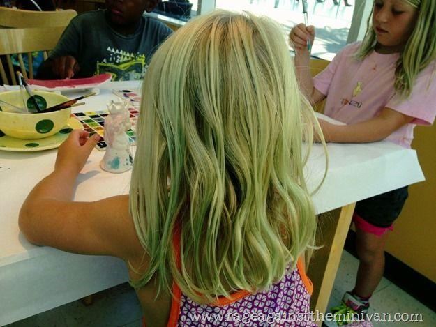 Rage Against The Minivan Green Hair Pool Hairstyles Hair