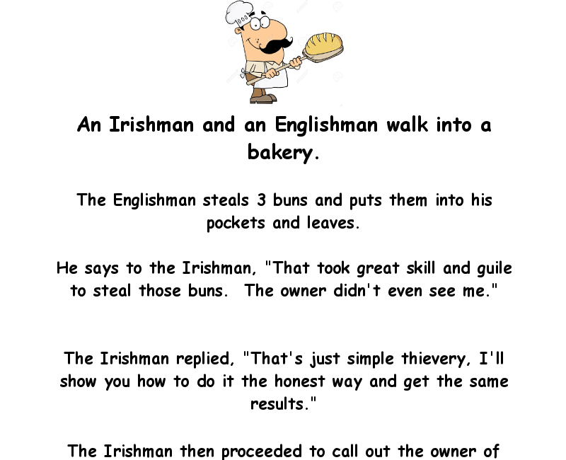 An Irishman And An Englishman Walk Into A Bakery - #funny #humor ...