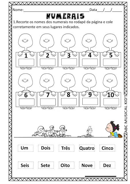 ATIVIDADES DE EDUCAÇÃO INFANTIL E MUSICALIZAÇÃO INFANTIL: MATEMÁTICA ...