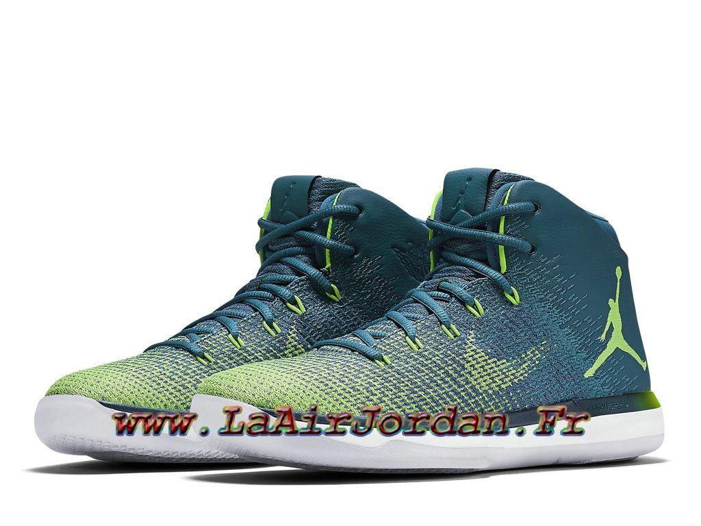 sports shoes 2aba7 6eeea Air Jordan 31 XXX1 Retro Rio Chaussures Officiel Jordan Prix Pour Homme  Vert…