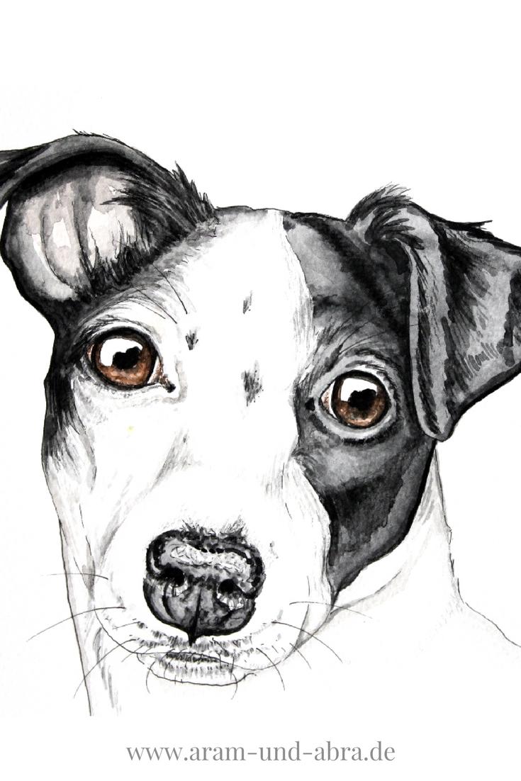hund malen lassen auftragsarbeiten bei aram und abra jack russell terrier russell terrier. Black Bedroom Furniture Sets. Home Design Ideas