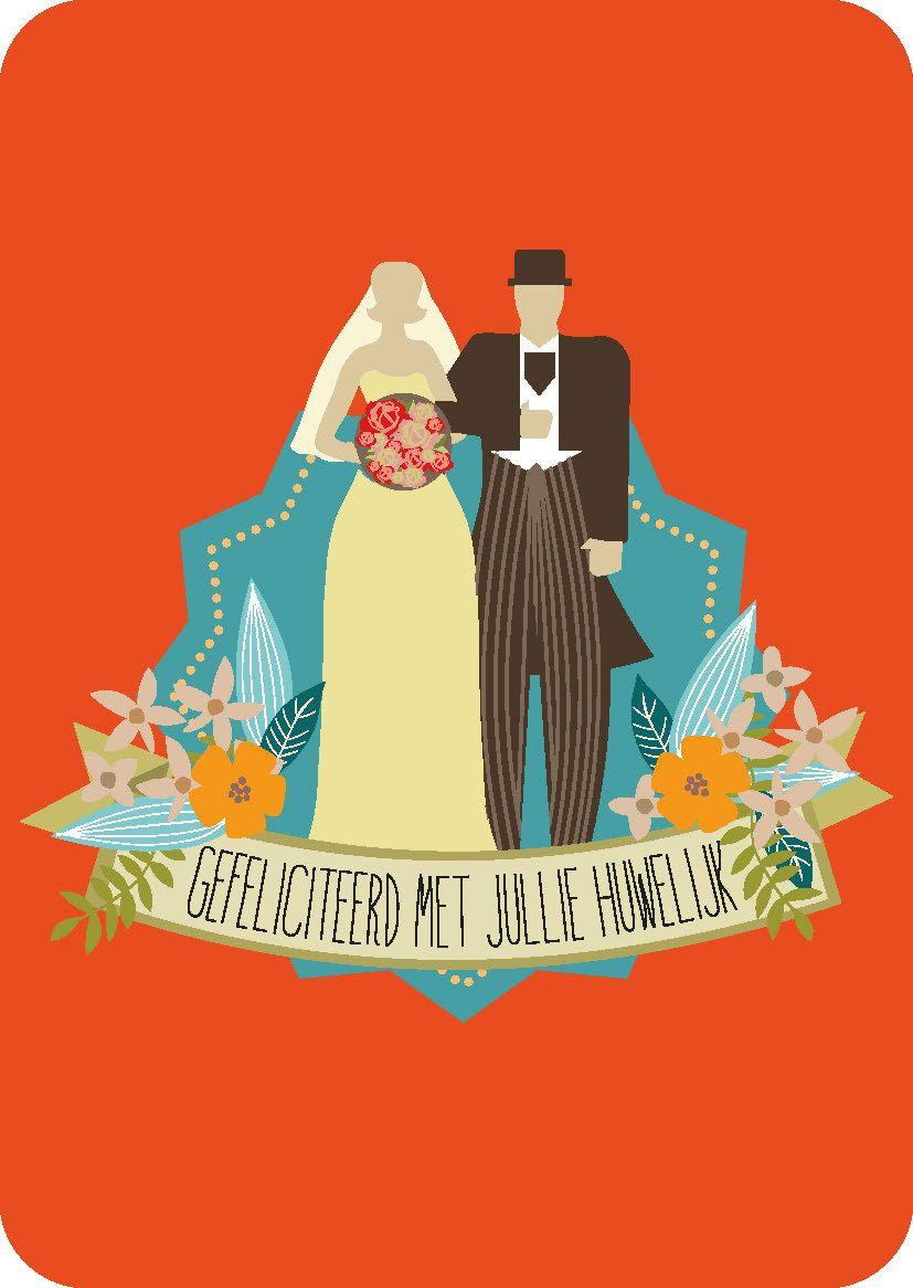 gefeliciteerd met jullie katoenen huwelijk