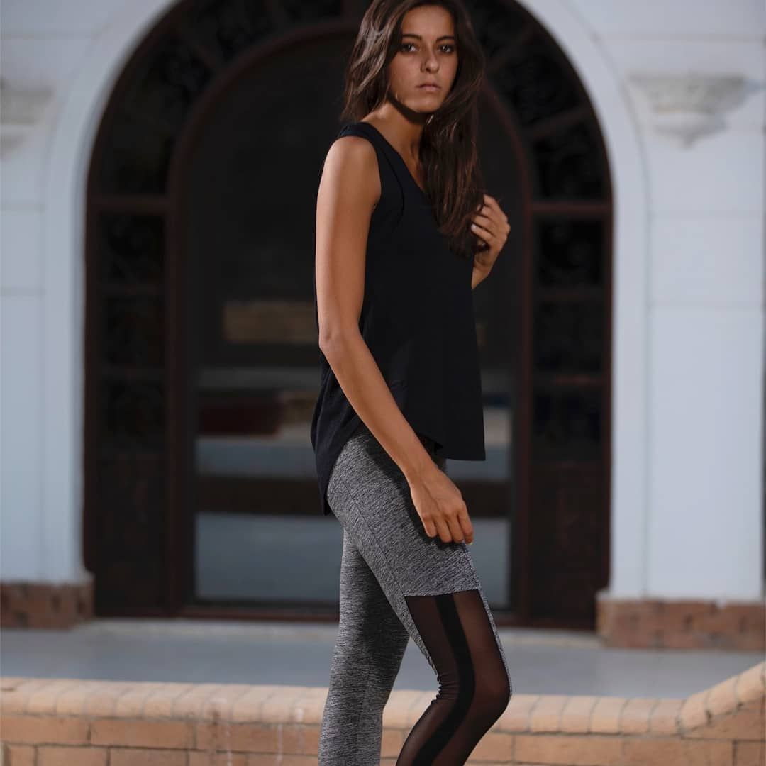 Bringing you the best of the athleisure wear shop now our racerback mesh top and sports mesh legging...