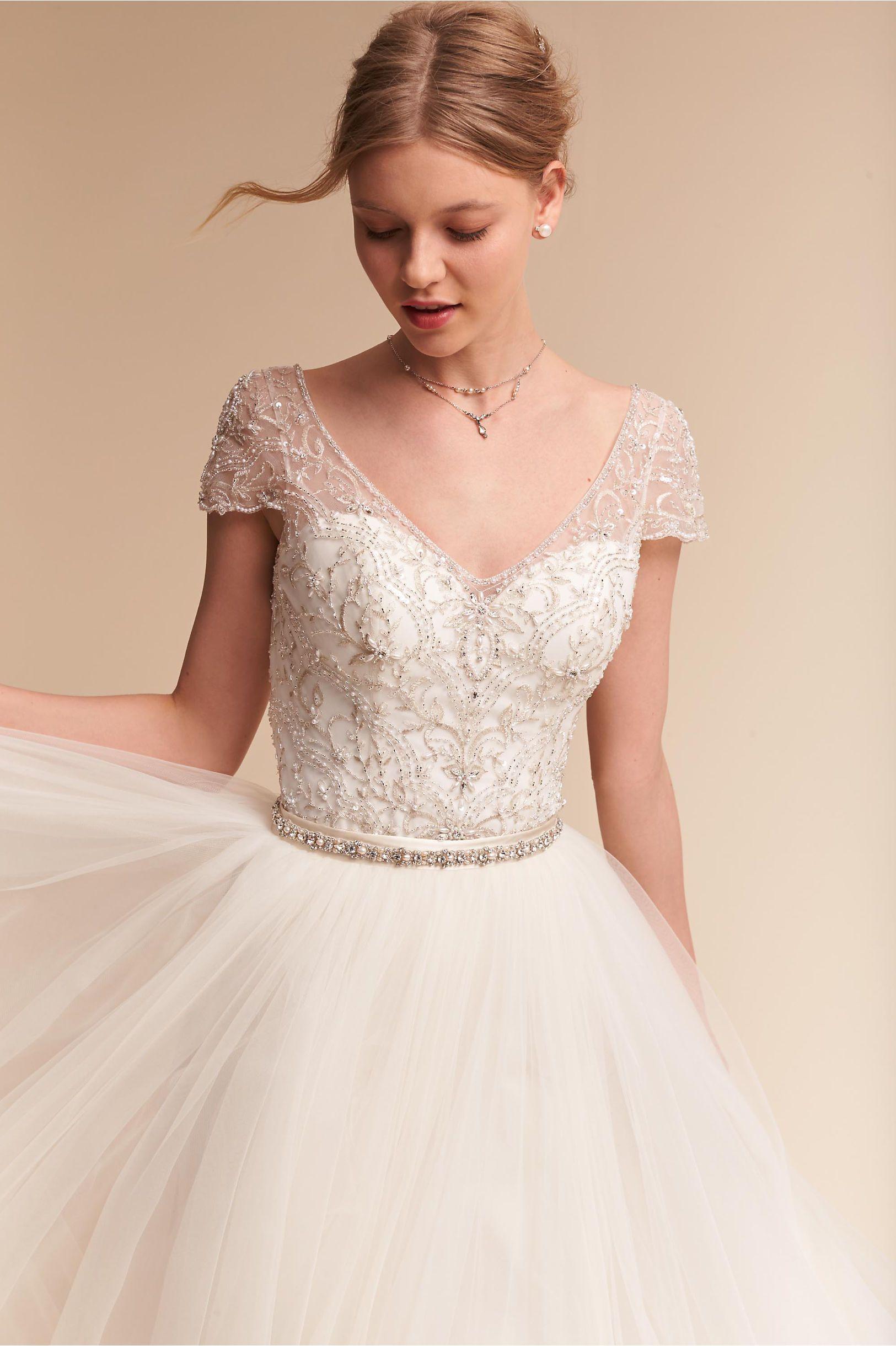 Bhldn Brio Bodysuit Delphi Skirt In Bride Wedding Dresses Sleeves