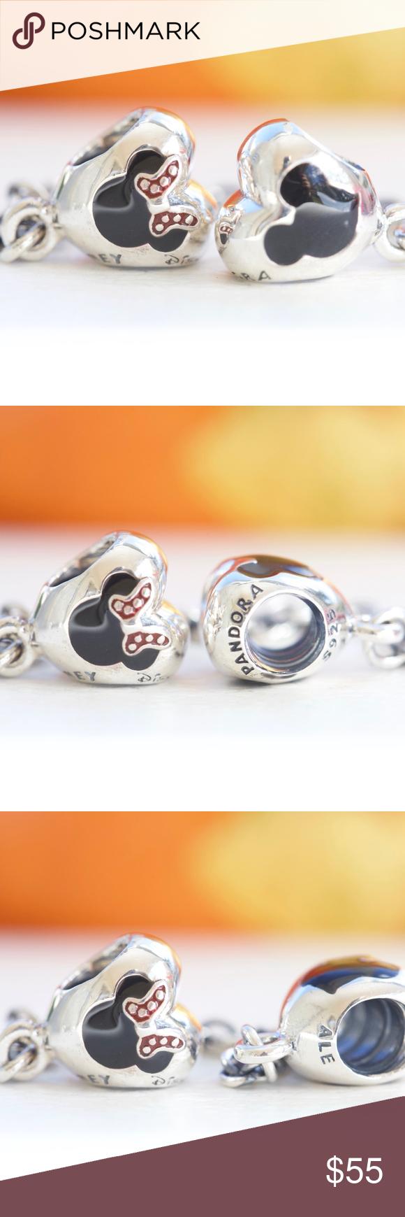 548922125 Pandora Disney Mickey & Minnie Hearts Safety Chain Pandora Disney, Park  Exclusive Mickey & Minnie