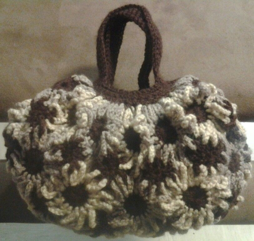 Crochet Floral Hand Bag
