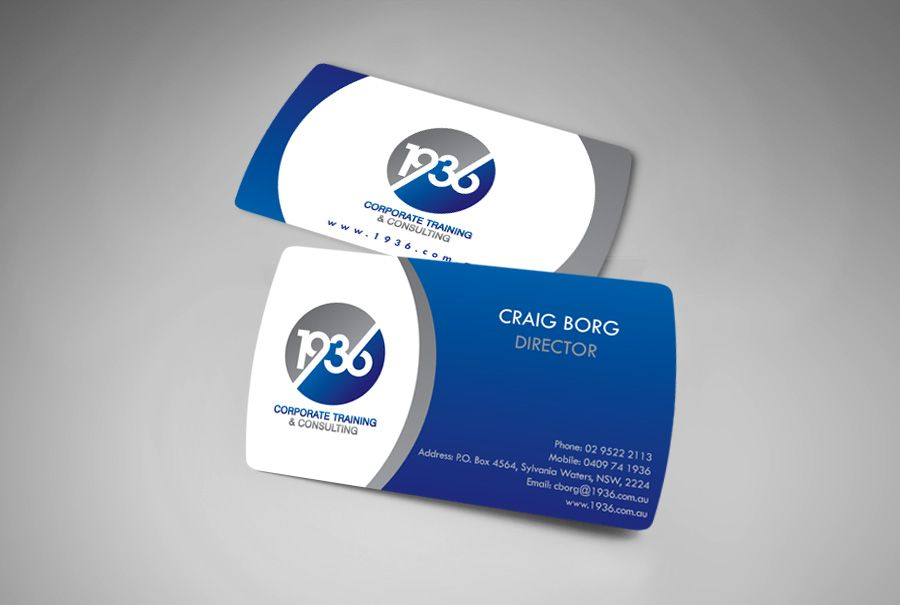 Business Cards for a Corporate Training Company needing impressive ...