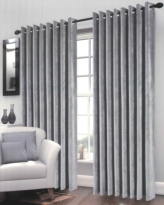 Ebay Grey Curtains