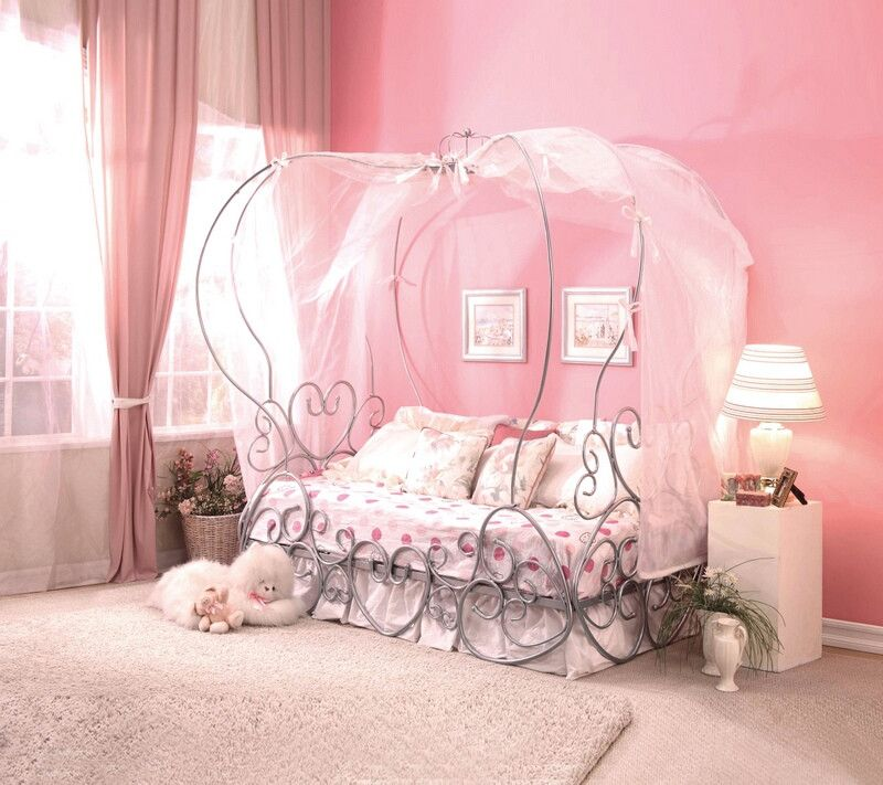 Acme 37190t Priya Silver Finish Metal Frame Canopy Bed With Heart Shapes Design Twin Canopy Bed With Images Girl