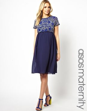 ASOS Maternity Exclusive Embellished Midi Dress | Babies ...