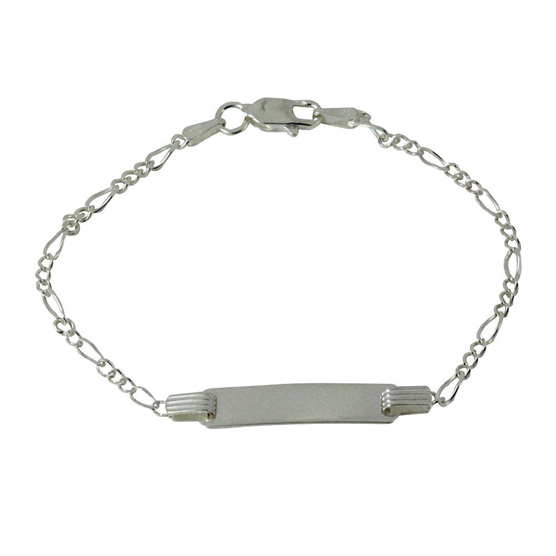 Apop nyc sterling silver boys girls kids id bracelet inch jewelry