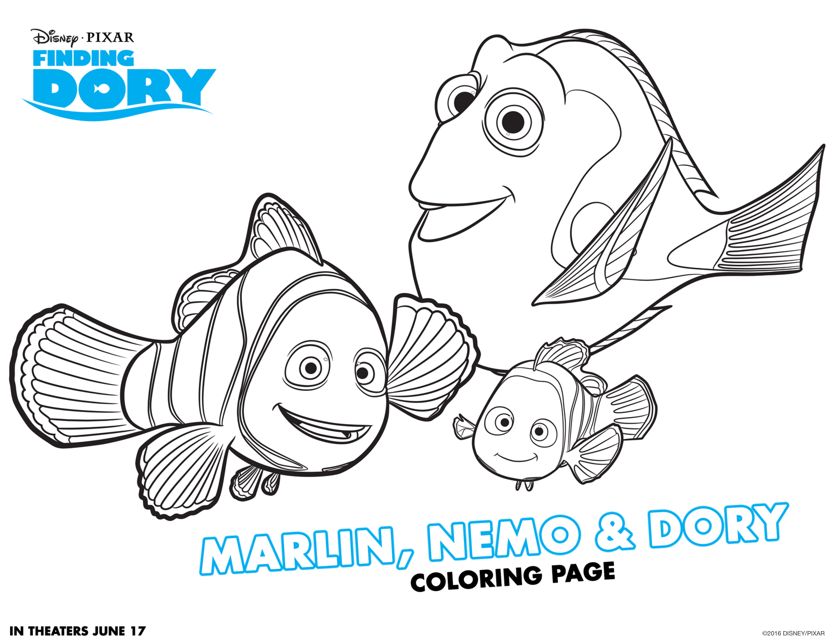 Finding Dory Coloring Sheets Nemo Coloring Pages Finding Nemo Coloring Pages Finding Dory Coloring Sheets