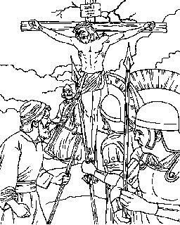 23+ Coloring page jesus on the cross HD