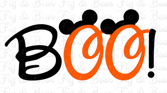 8c67a335 Disney Halloween Mickey Mouse BOO! Iron On Transfer for T Shirts  Personalized FREE