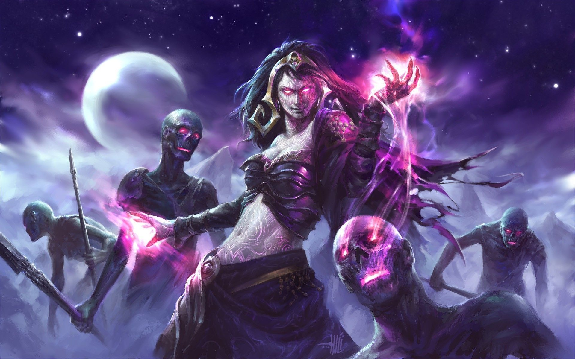 1920x1200 Fantasy Art Magic The Gathering Witch Zombies