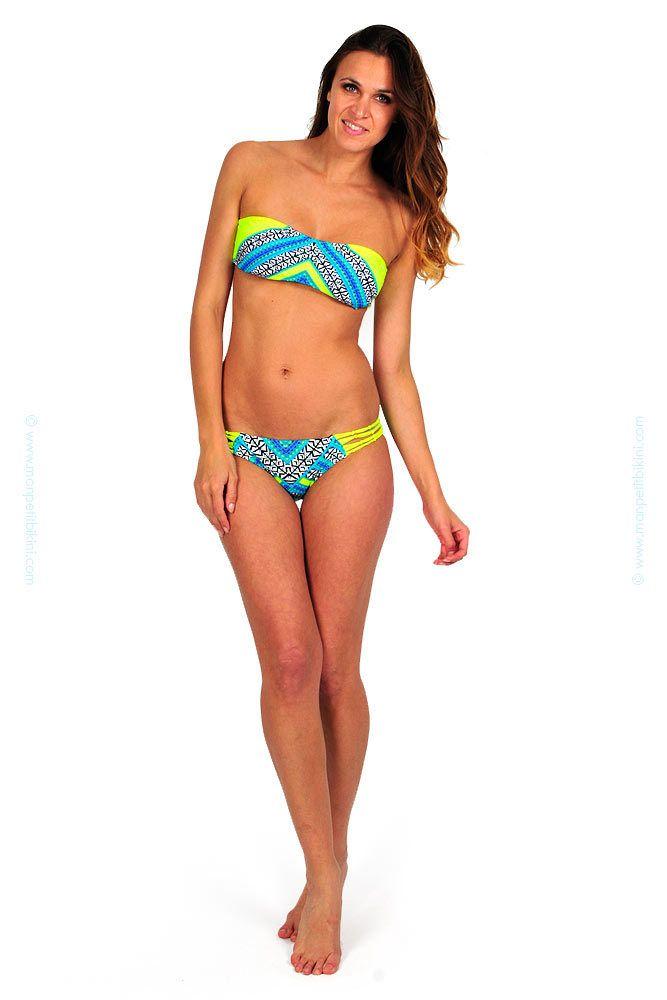 b936396b23 Haut de maillot de bain bandeau jaune fluo Gypsy Queen | maillot de bain
