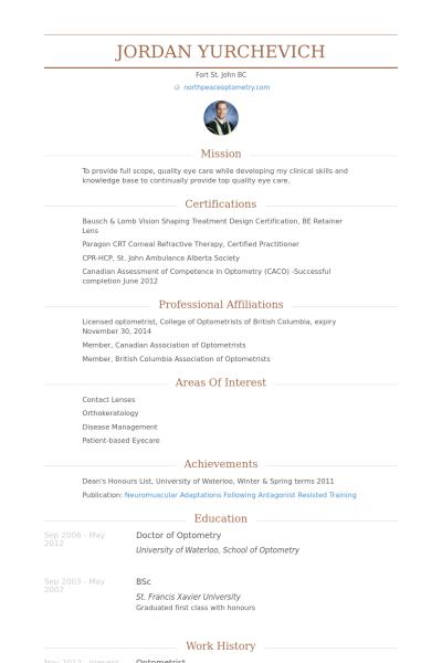 Optometrist Resume Samples Visualcv Resume Samples Database Resume Resume Examples Resume Design Template