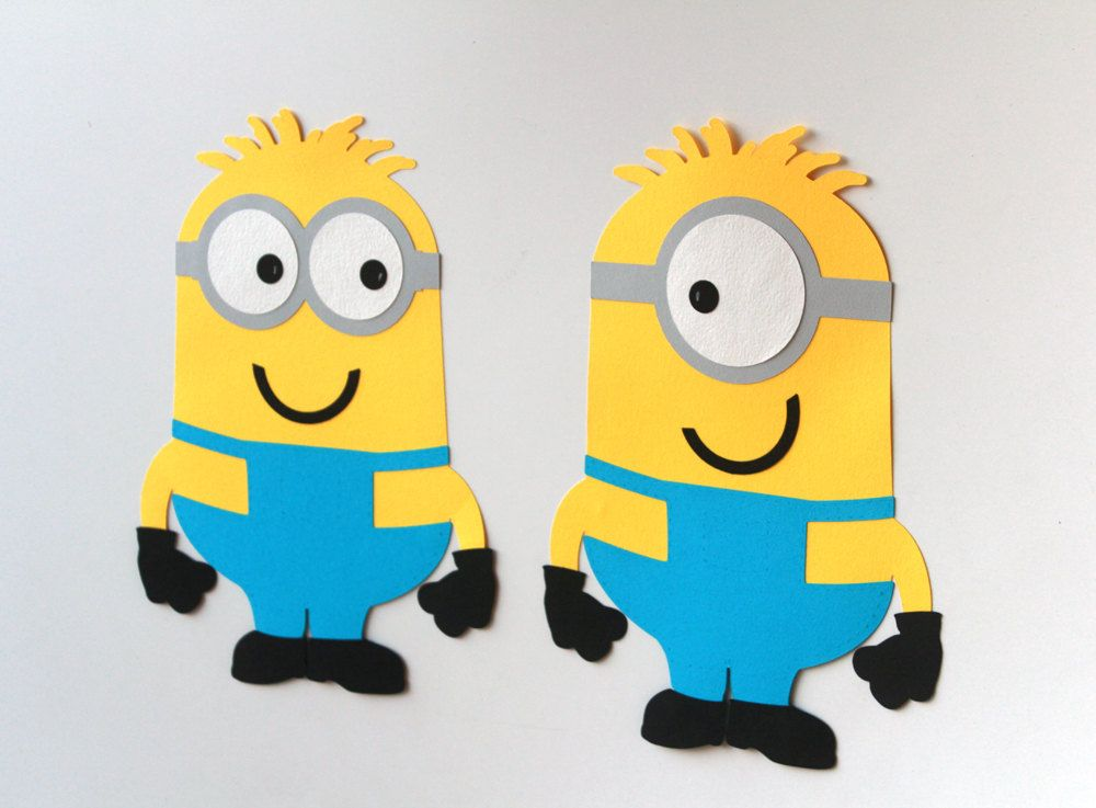 Minion Character\'s Figures wall decor for birthday party Custom ...
