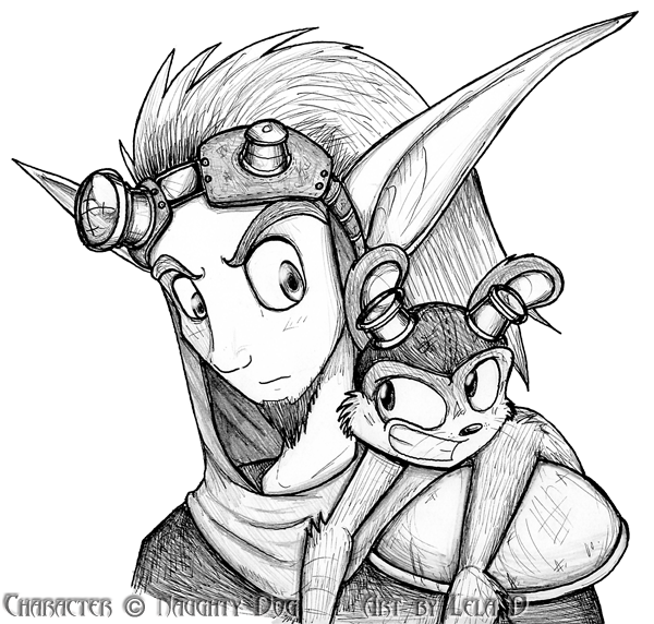 Jak And Daxter By Metallixfaker On Deviantart Jak Daxter Character Design Drawings
