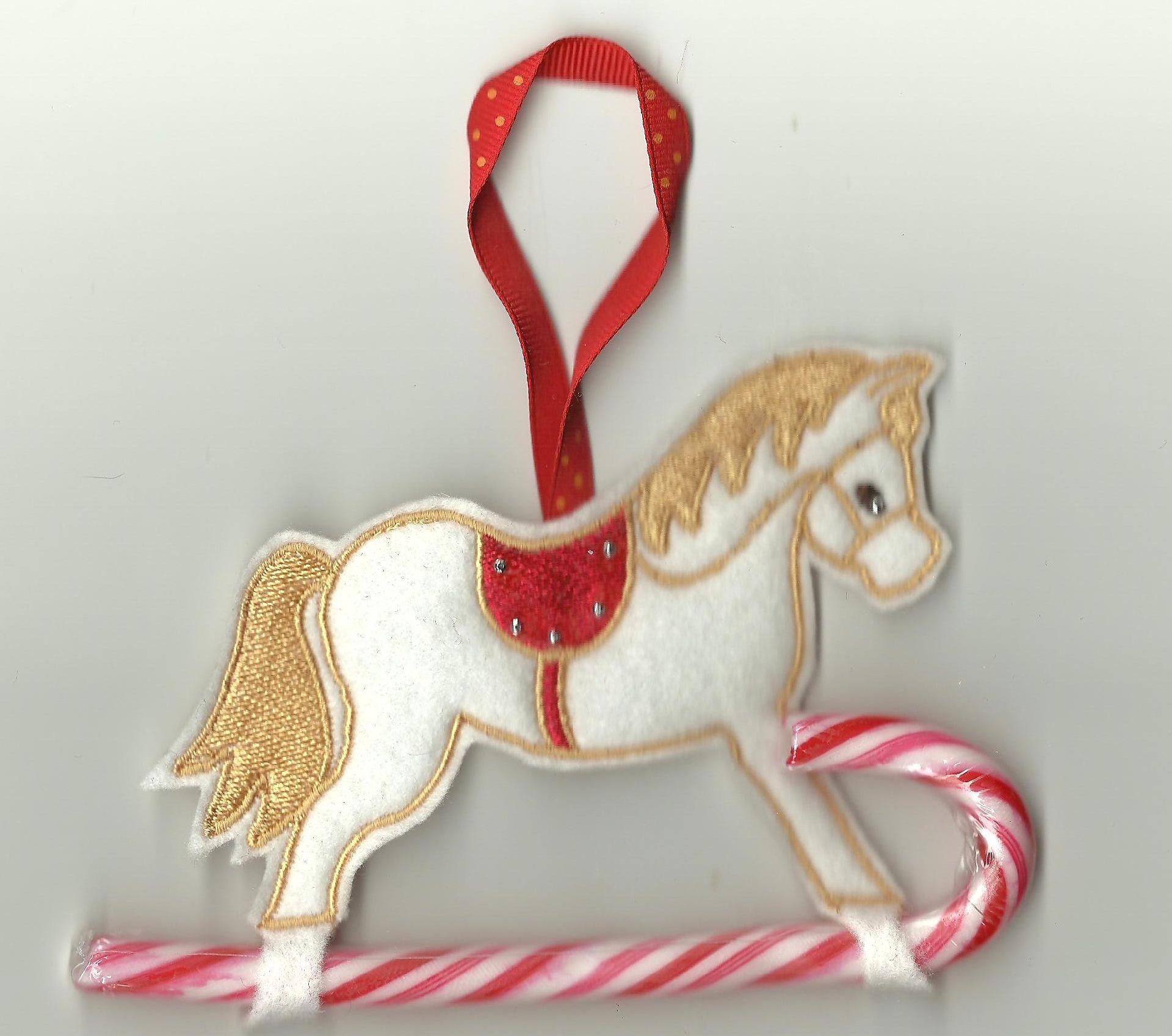 Christmas Pony Candy Cane Holder