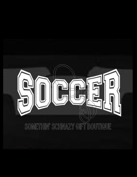 Soccer Vinyl Decal Car Window Decal Laptop By SomethinSchnazyGifts - Soccer custom vinyl decals for car windows