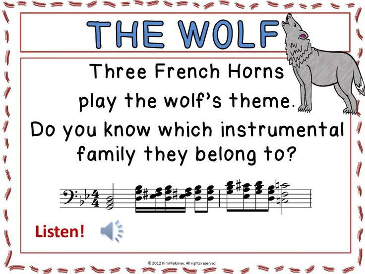 Music Appreciation Peter And The Wolf Music Listening Worksheets