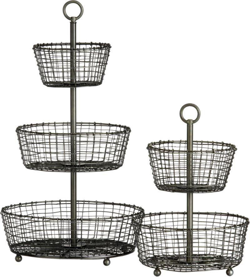 Three Tier Basket In Serving Baskets