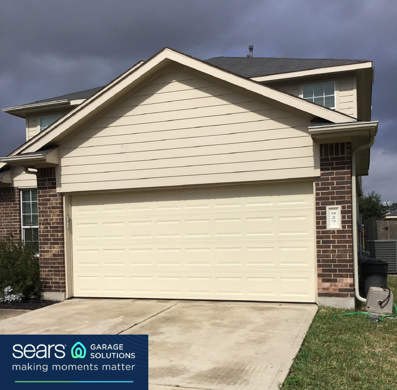 The Sky May Not Look It S Best But That New Garage Door Sure Does Give Us A Call At 281 688 1760 To Set U In 2020 Garage Doors Garage Door Repair 16x7 Garage Door