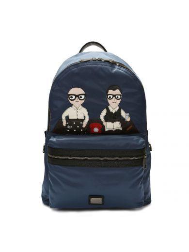 DOLCE & GABBANA Dolce & Gabbana Vulcano Designers Patch Backpack. #dolcegabbana #bags #backpacks #