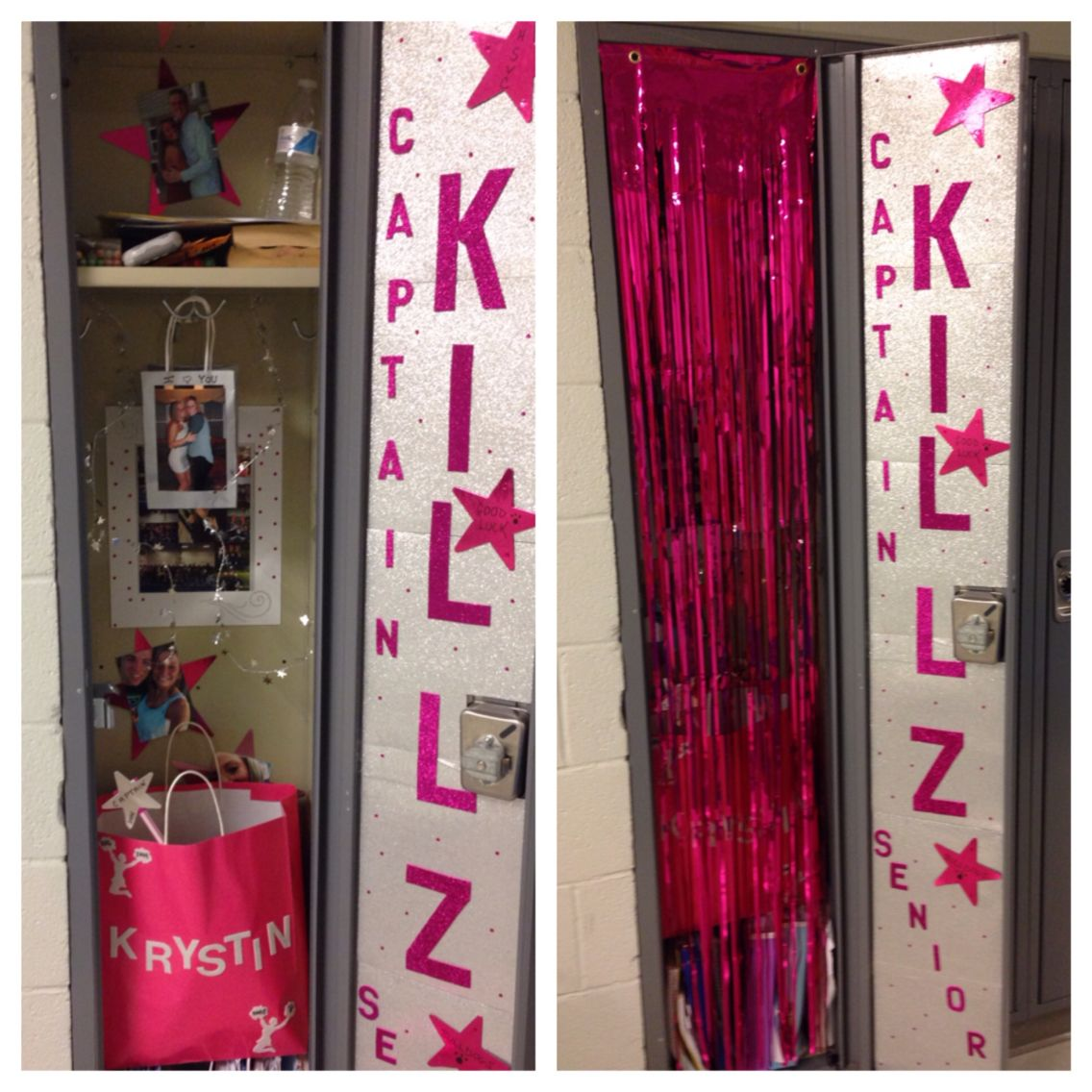 locker decorations rhscheer cheerleading seniors
