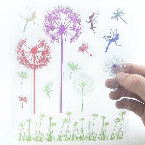 Fairy Fairy's sparkle dandelion wish silicone rubber