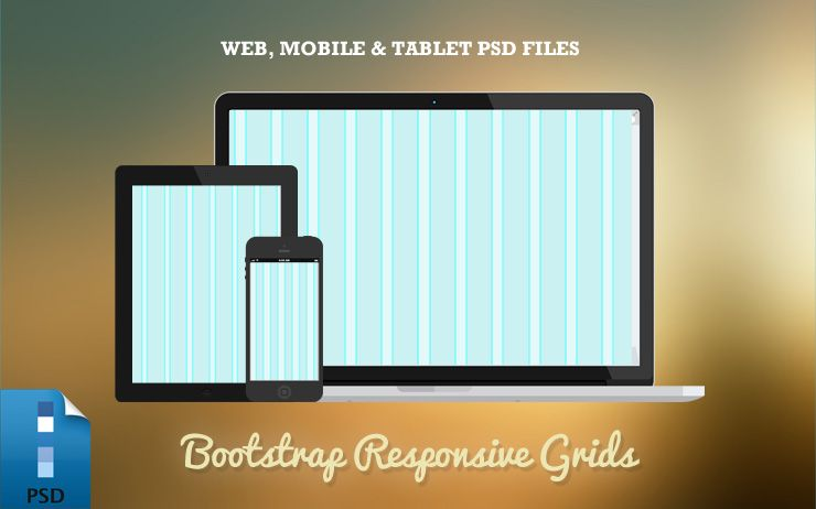 responsive bootstrap grid psd templates web tablet mobile
