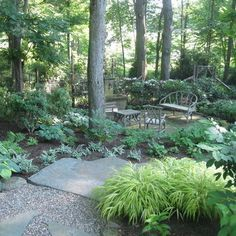 Shaded Backyard Ideas shade garden design ideas Wooded Backyard Landscaping Ideas Google Search