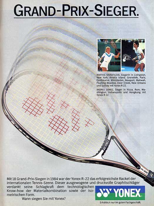 Yonex R 22 Navratilova S Iconic Stick Siegen