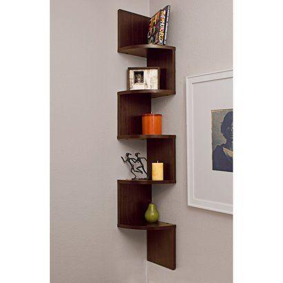 $4799 Large Corner Shelf- Walnut Finish For the Home Pinterest