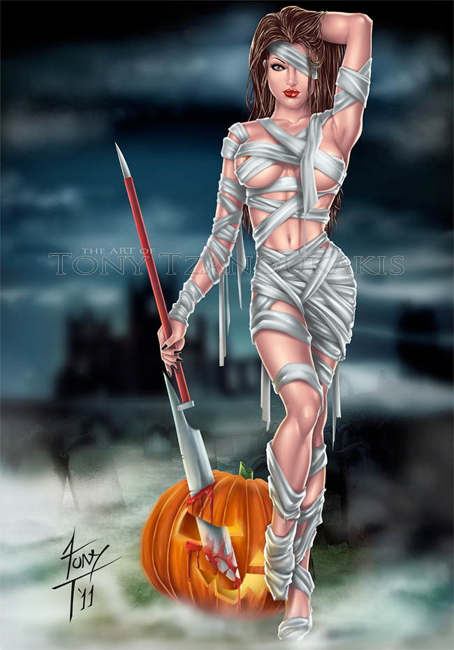 Church of Halloween » Modern Halloween Pin-Ups (51 ...