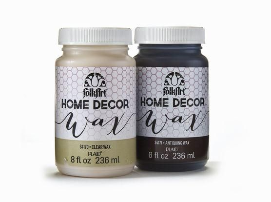 FolkArt Home Decor Wax 8 oz Chalk paint Wax and Fabrics
