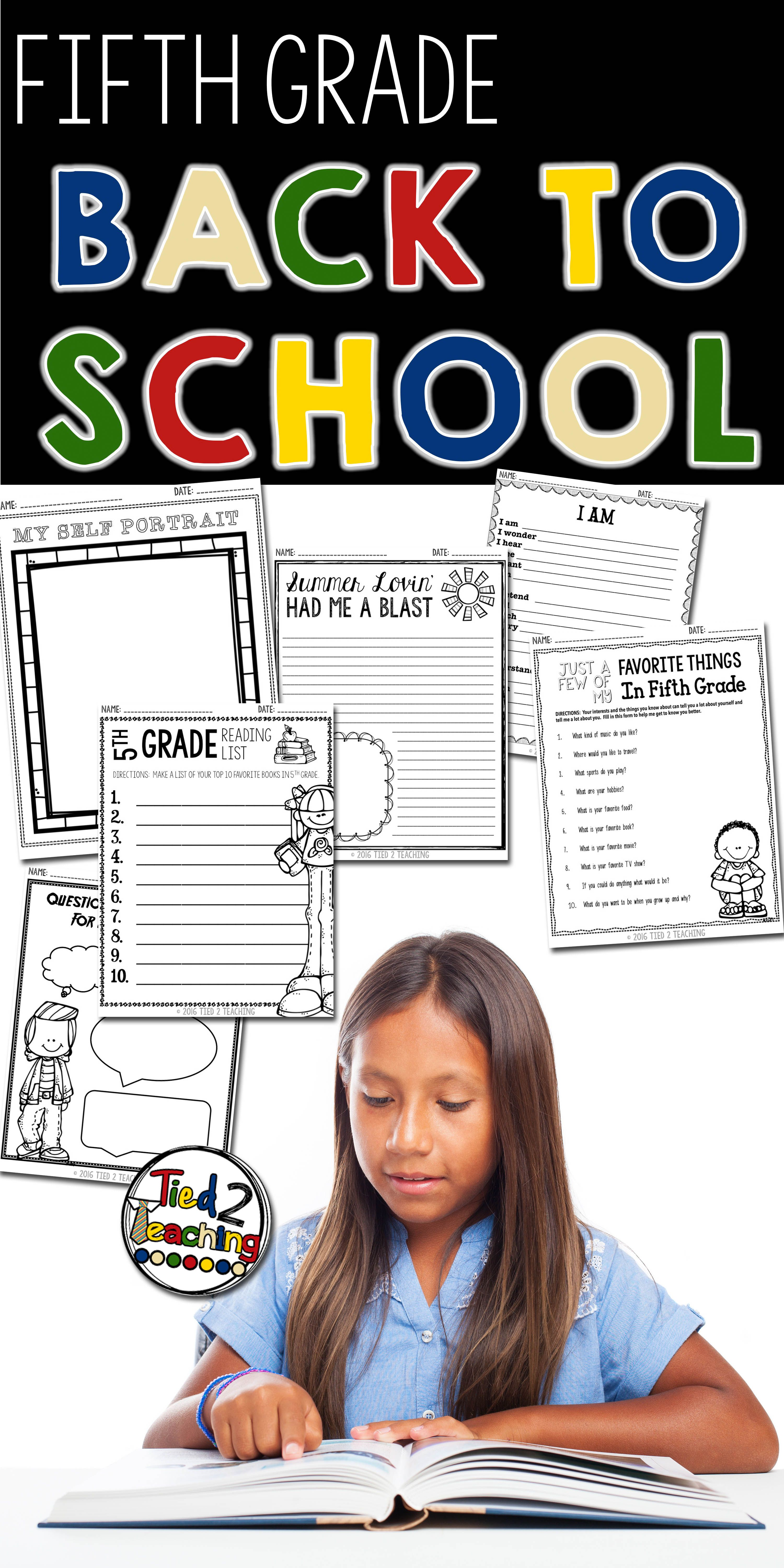 medium resolution of The first day of school and the weeks that follow are such are fun and  exciting time. These back to sc…   Fifth grade