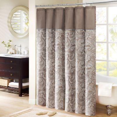 Madison Park Aubrey 54 Inch X 78 Inch Jacquard Shower Curtain In