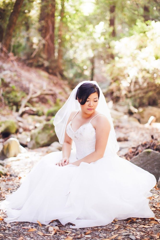 forest bride dress and veil