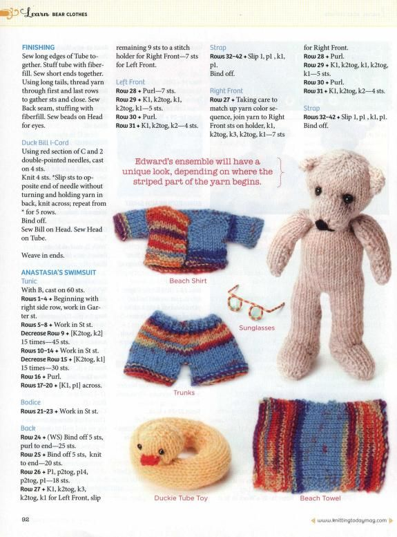 Knit Today 2011 06 Teddy Pinterest Patterns And Crochet