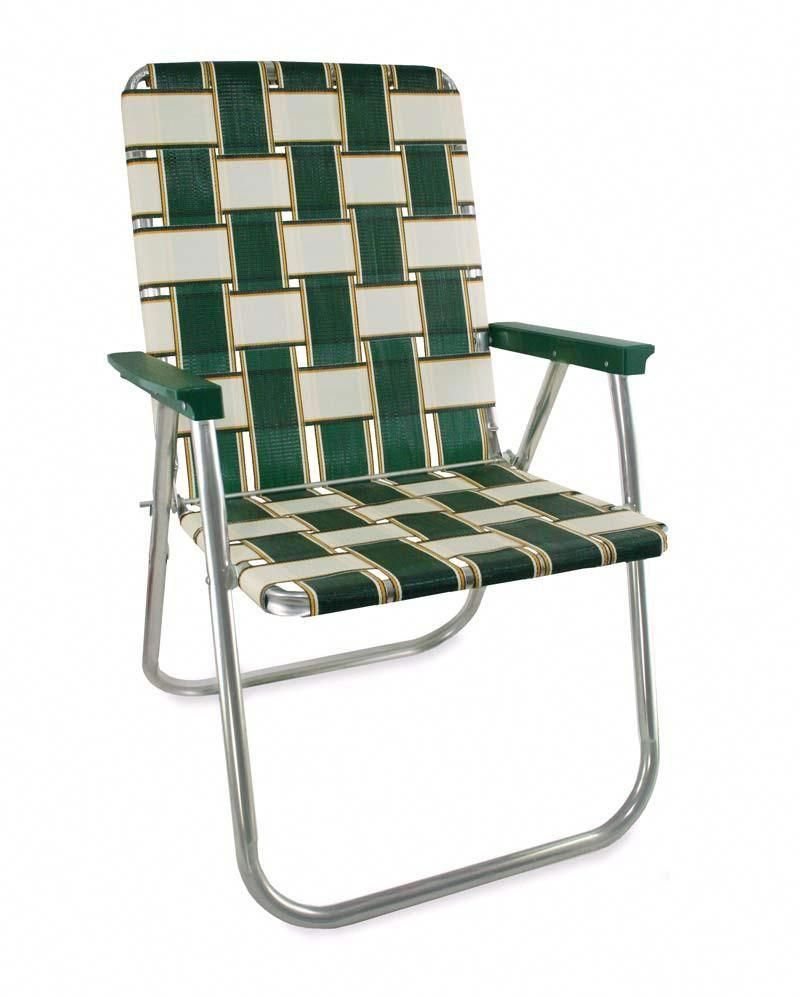 Charleston Folding Aluminum Webbing Lawn Chair Deluxe Clicchairs