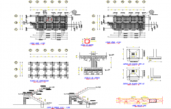 Stair section and foundation section detail dwg file | Cadbull
