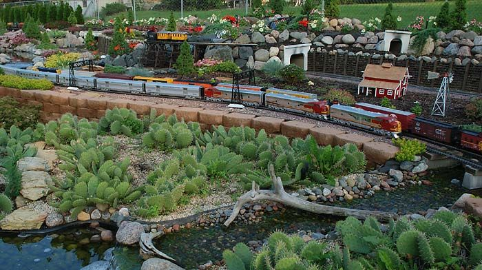 images about Garden Model Trains on Pinterest Gardens