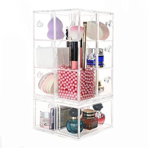 multilayer rotating cosmetic jewelry storage box makeup tool rh pinterest com