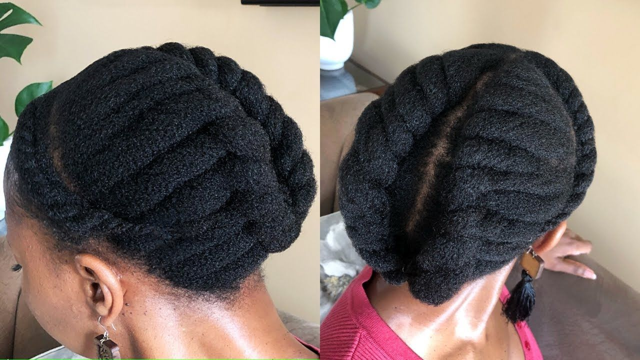 SIMPLE FLAT TWIST STYLE ON 4C NATURAL HAIR PROTECTIVE STYLE - YouTube in 2020   Flat twist ...