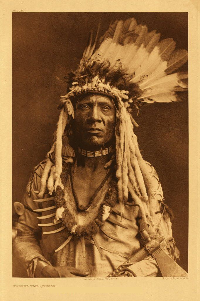 a very dignified African American Indian war chief. The ...