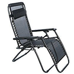 Ancheer Zero Gravity Chair Outdoor Lounge Chaise With Foldable Aluminum  Construction And Durable Mesh Fabric 300lbs Capacity ... Part 27