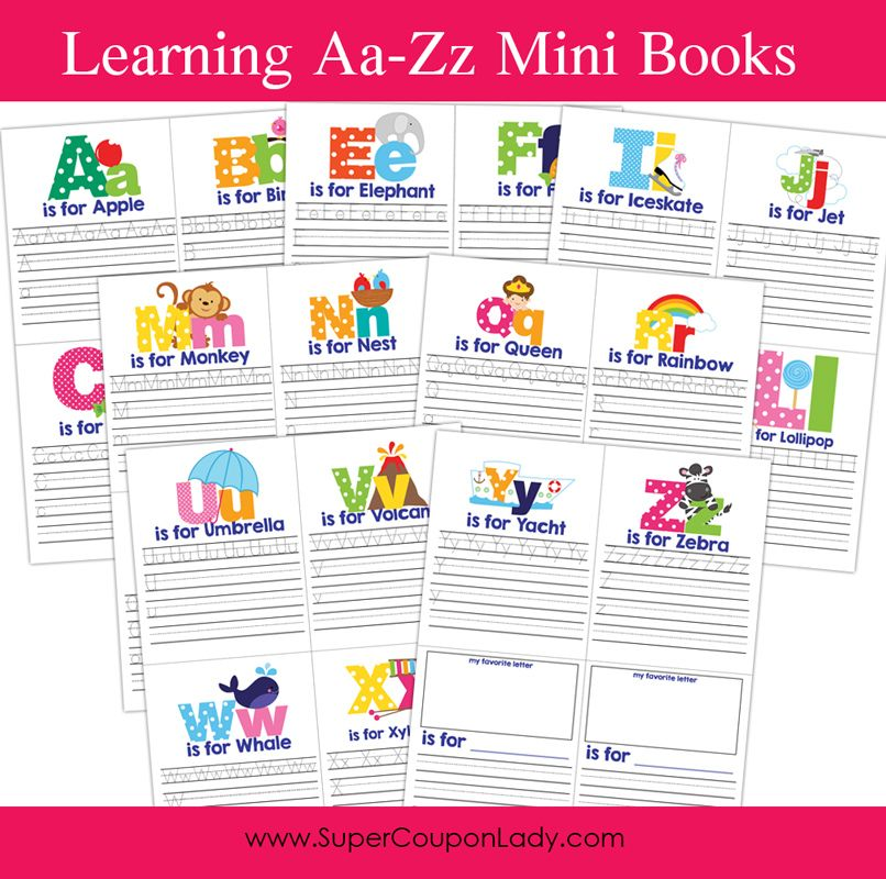 Learning A-Z Mini Books | Learning, Minis and Books
