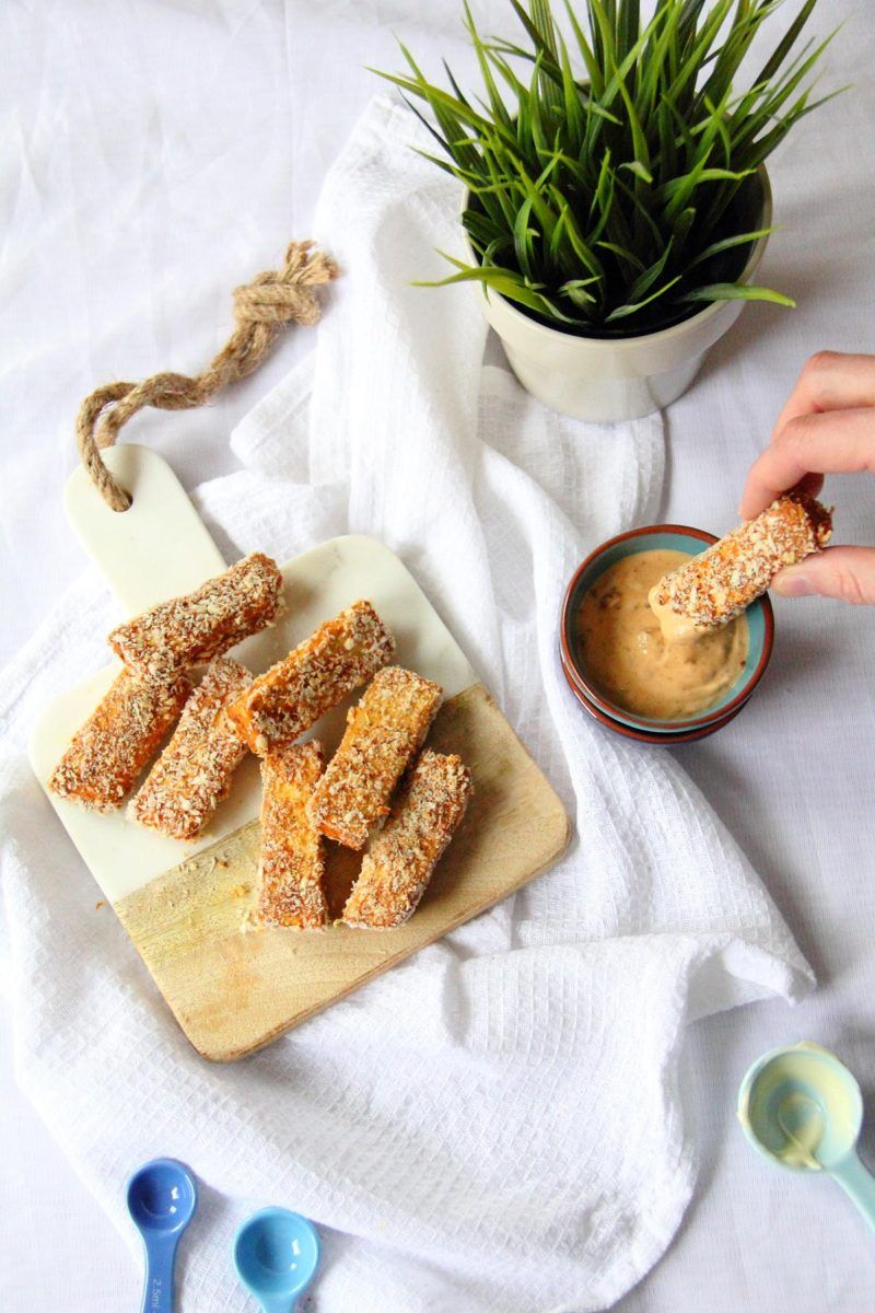 Smoked Tofu Fingers With Chipotle Mayo